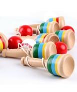 Baby Wooden Toys Educational Sword Ball Juggling Anti Stress Gadgets Jum... - $5.95