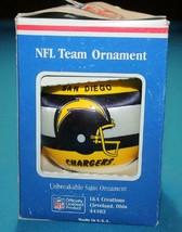 NFL Team Ornament  SAN DIEGO CHARGERS  NIB Unbreakable Satin Ball   PLEA... - $8.99