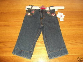 Disney's Princess girls Capri pants jeans size 2 2T toddler NEW NWT belt ^^ - $9.08