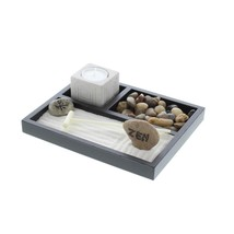 Indoor Garden Decor, Desktop Rock Zen Starter Small Home Indoor Garden Kit - $19.59