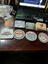 37 Beer Coaster Lot All Different bud, coors, miller, newcastle, Killian... - $10.45