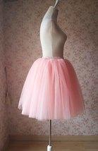 Blush Pink Tulle Skirt Knee Length Ballerina Tulle Skirt Plus Size image 4