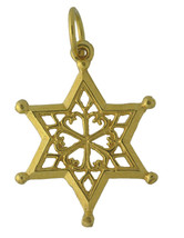WOW New 24K Gold Plated Cold Frozen Winter SnowFlake charm pendant Jewel... - $15.26