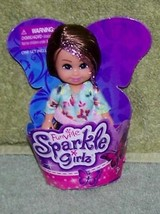 """Funville Sparkle Girlz with Brunette Hair 4.5""""H Mini Doll New - $5.88"""