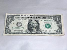 2013 $1 Dollar Bill US Bank Note Date Year Birthday 1925 9299 Fancy Mone... - $13.78