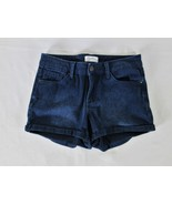 JESSICA SIMPSON WOMENS  26 waist  BLUE DENIM DARK WASH STRETCH SHORT SHO... - $21.77
