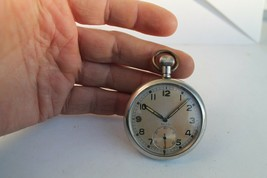 Antique Vintage Old Swiss Made Pocket Watch WWII For Swiss Army - $302.94
