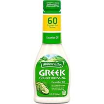 Hidden Valley Greek Yogurt Cucumber Dill Dressing Pack of 3 12 oz Bottles