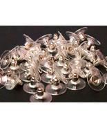 50 pcs Silver  Pierced Earring back Clutch post nut pad backing 6 x 11.40mm - $3.58