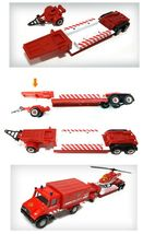 Fire Fighting Department Die-Cast Car Helicopter Tow Ladder Truck Vehicle Toy image 7