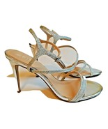 BADGLEY MISCHKA JEWEL Women's MARIMBA Glitter Sandal Heels Size US 8 / E... - $35.63