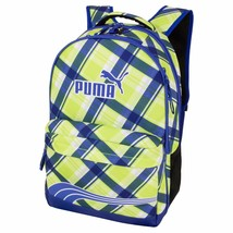 "L@@K NEW PUMA 17"" BACKPACK SCHOOL BAG BLUE Lime GREEN Laptop Archeprint ... - $25.73"