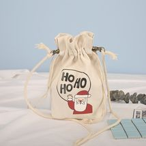 Hot Christmas Candy Gift Bags Canvas Santa Xmas Present Sacks Xmas Decor... - €5,66 EUR
