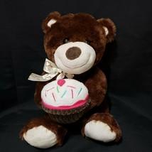 "Dan Dee Collector's Choice Birthday Cupcake Bear Stuffed Animal Plush 13"" - $19.35"