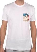 Almost Skateboards DC Comics Mens White Superman Pocket T-Shirt S M L XL NWT