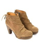 Coclico Brown Suede Leather Ankle Boots Booties Zip Womens EU 37 / US 6.... - $150.70 CAD