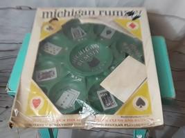 Vintage 1963 Transogram Michigan Rummy Black Kitty Plastic Play Tray - $32.36