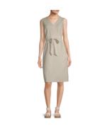 Liz Claiborne Sleeveless A-Line Linen Dress Size XL Flax $59.00 New  - $14.99