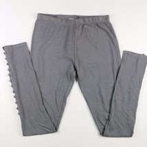 WD.NY Leggings Spandex Pull On Gray Ankle Butto... - $11.65