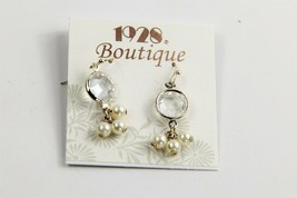 ESTATE VINTAGE Jewelry NOS ON CARD 1928 COMPANY BOUTIQUE BEZEL CRYSTAL E... - $10.00