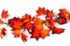 CraftMore Fiery Maple Fall Leaf Garland 6' image 1