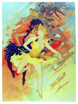 BAllet Dancers drawing vintage POSTER.Graphic Design.Wall Art Decoration... - $10.89+