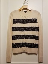 Ann Taylor Lace Cardigan Sweater Rayon Blend Cream, Cream, Size M, Pre-o... - €25,28 EUR