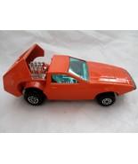 Matchbox Tanzara Dark Orange No. 53 green windows Lesney 1972 England - $14.84