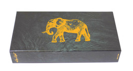 "Joy of Light Designer Matches Gold Foil Elephant On Black Embossed 4"" Ma... - $6.99"
