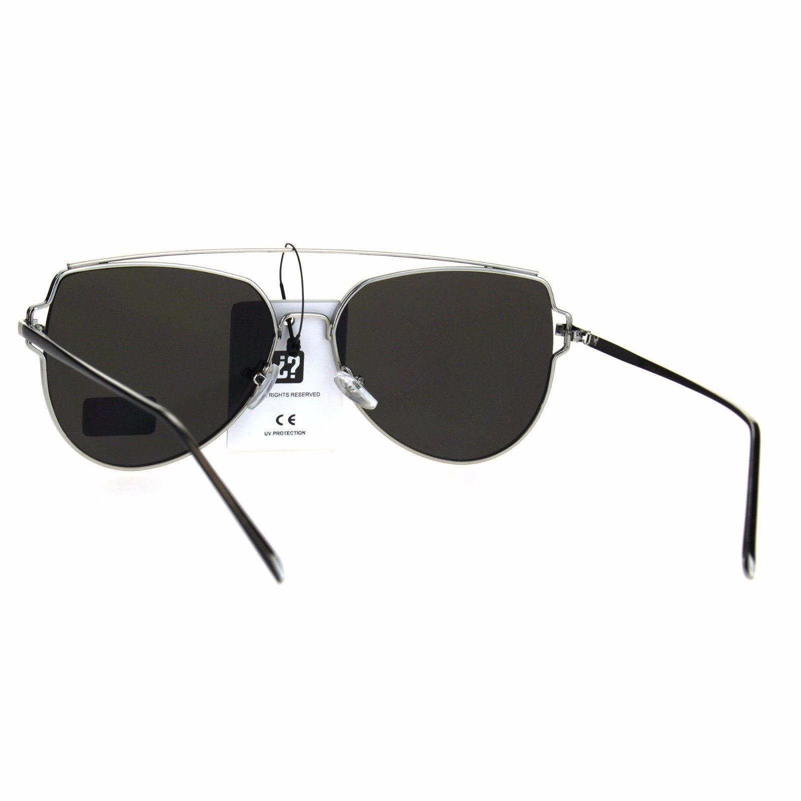 54f864d7ead ... Air Force Flat Top Bar Squared Retro Pilots Metal Rim Sunglasses ...