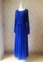 Lady Plus Size Long Chiffon Dress Oversized Summer Holiday Dress,Long Sleeve,Red image 7