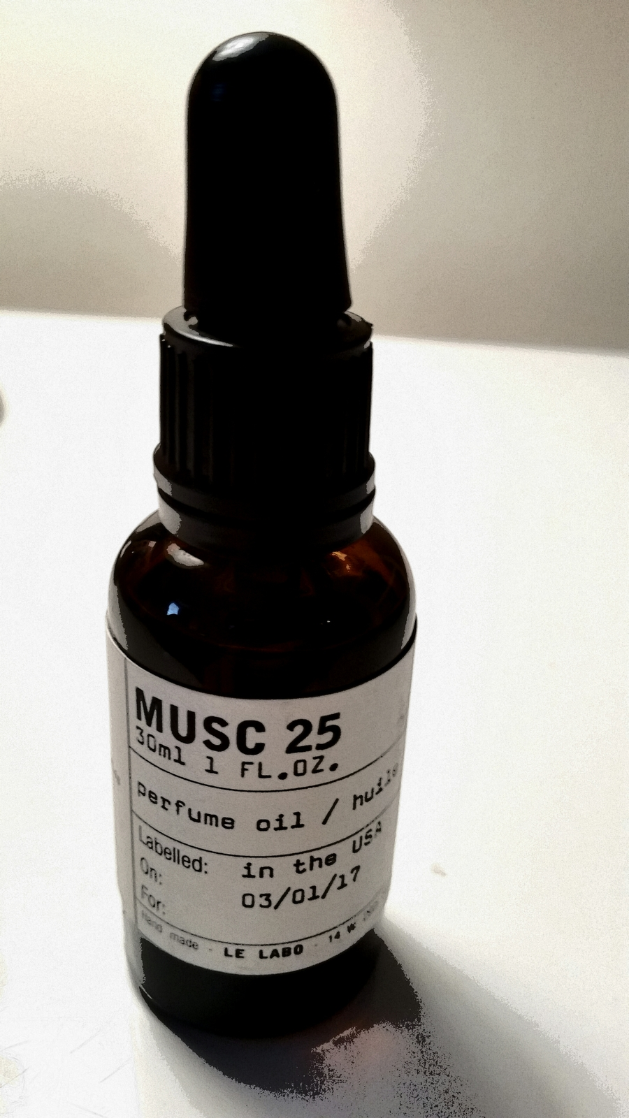 MUSC 25 by LE LABO 5ml Travel Roll On Ambergris Rose Cedar Perfume Oil L.A. M25