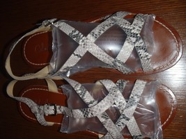 Cole Haan Reptile Strappy Flat sandals Size 9.5 B Womens - $37.11