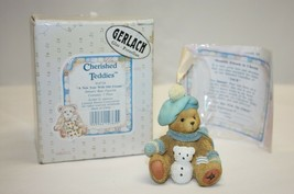 "Enesco Cherished Teddies January ""Jack"" Bear Figurine in Box 1993 Reg/ No.  - $9.89"