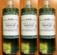 3x Bella Cucina DISH SOAP Rosemary Mint With Essential Oils 17.2 Fl. Oz ... - $16.99