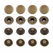 12.5mm Bronze S Spring Press Studs Snap Fastener Poppers Button Sewing C... - $3.70+