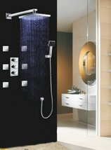 "Luxury 10"" Water Power LED Shower Head Rainfall Thermostatic 6 Massage Jets Spra - $782.05"