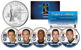 YANKEES FAB FIVE NY Quarters US 5-Coin Set JETER MARIANO POSADA PETTITTE... - $13.81