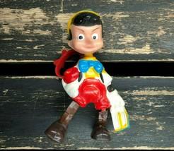 Vintage Disney Pinocchio Toy Action Figure Doll Collectible Disneyana Hong Kong - $14.39