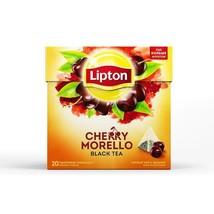 Lipton Black Tea: Cherry MORELLO -1 box/ 20 tea bags -FREE SHIPPING-DaMaGeD - $7.37