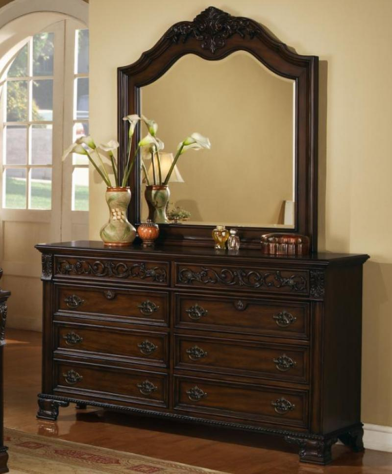 Myco Furniture Ke180k Kensington Dark Cherry Finish Luxury