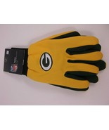NFL TEAM UTILITY GLOVES GREEN BAY PACKERS ADULT WORK WINTER OFFICIAL LIC... - $7.79