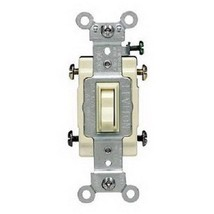 Leviton 54504-2A Spec Grade Toggle 4-Way AC Quiet Switch Almond 120/277V... - $9.89