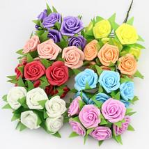 3cm PE rose foam mini flower Bouquet, Artificial rose flowers for weddin... - $10.95
