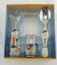 Eat4Fun Duo Collection Kids Fork & Spoon Astronaut NEW - $8.81