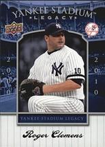 2008 Upper Deck Yankee Stadium Legacy Collection Box Set #89 Roger Clemens - $1.49
