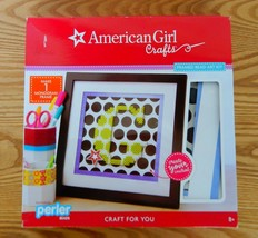 American Girl Crafts framed perler beads personalized letter frame picture - $20.00