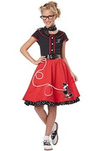 California Costumes Child's 50's Sweetheart Costume, Red/Black, Small - $42.67
