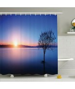 Shower Curtain Lone Tree Sunset Lake Print 10886 - $34.60