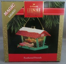 Vintage Hallmark Keepsake Christmas Ornament Feathered Friends Bird House Lights - $15.00